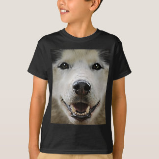 Husky Smile with Glowing Eyes T-Shirt