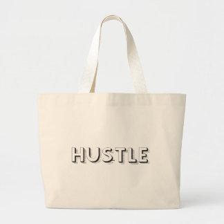 Hustle Modern Typography Large Tote Bag