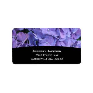 Hydrangea Address Labels