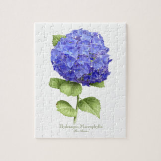 Hydrangea Blue Heaven Puzzle with Tin