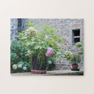 Hydrangea Flowers in Tuscany Jigsaw Puzzle