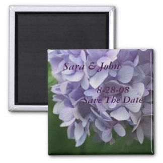 Hydrangea FlowerSave The Date Wedding Magnet