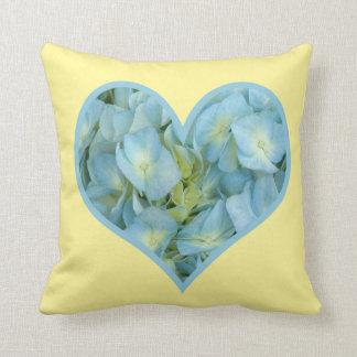 Hydrangea Heart Pillow