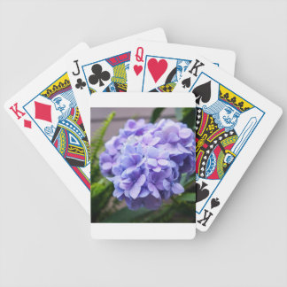 Hydrangea Love Bicycle Playing Cards