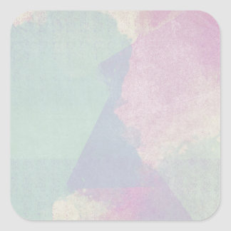 Hydrangea Series Watercolor Abstract Opal Square Sticker