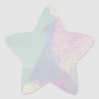 Hydrangea Series Watercolor Abstract Opal Star Sticker
