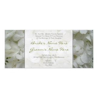 Hydrangea Wedding Invitation- From Bride's Parents 10 Cm X 24 Cm Invitation Card