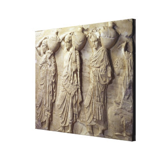 Hydria carriers from the North Frieze Canvas Print