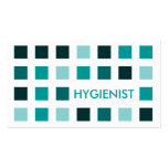 HYGIENIST (mod squares) Pack Of Standard Business Cards