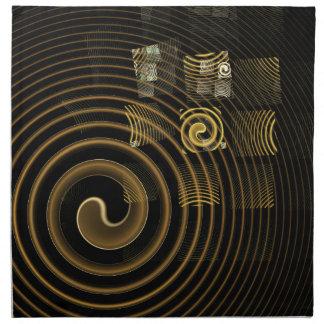 Hypnosis Abstract Art Napkin