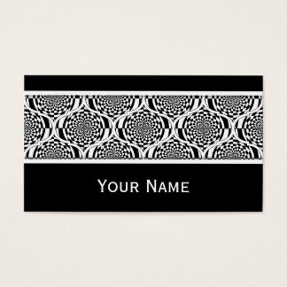 Hypnosis Pattern black white + your text Business Card