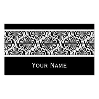 Hypnosis Pattern black white + your text Pack Of Standard Business Cards
