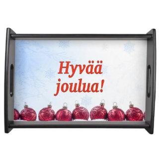 Hyvää joulua! Merry Christmas in Finnish rf Serving Platter