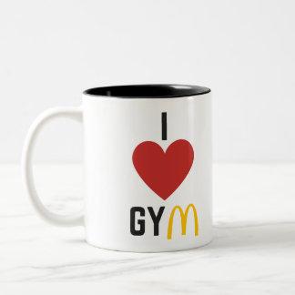 I <3 GYM! Two-Tone COFFEE MUG