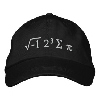 i 8 sum pi - I Ate Some Pi Funny Math Hat Embroidered Hat