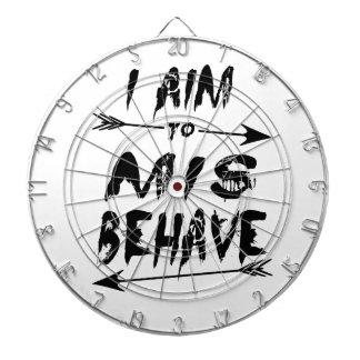 I aim to mis behave dartboard with darts