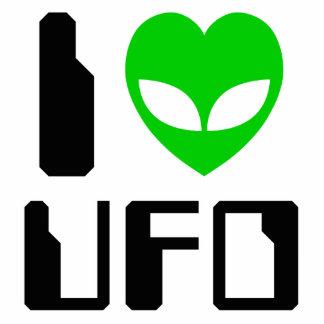 I Alien Heart UFO Photo Cutouts
