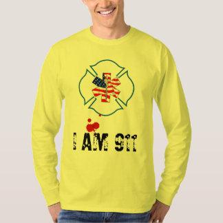I AM 911 USA wit blood splat T-Shirt