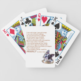 I am a Boston Terrier Bicycle Playing Cards