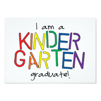 I Am a Kindergarten Graduate Card