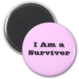 I Am a Survivor 6 Cm Round Magnet