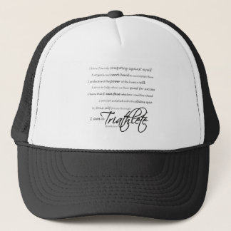 I am a Triathlete - Script Trucker Hat