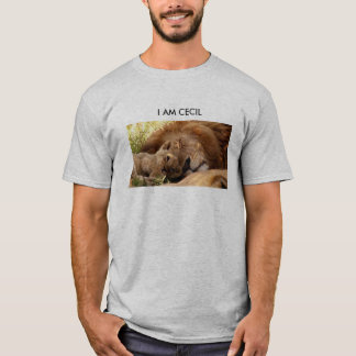 I Am Cecil the Lion with His Cub T-Shirt
