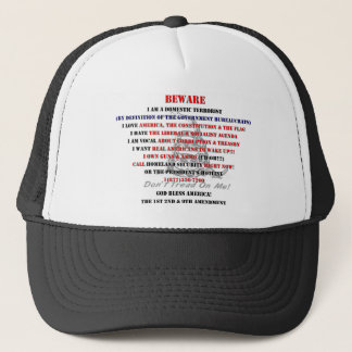 I am domestic terrorist A.png Trucker Hat