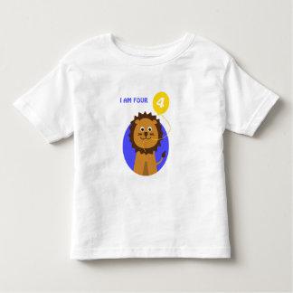 I am four smiling lion toddler T-Shirt