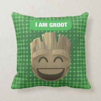 """I Am Groot"" Text Emoji Cushion"