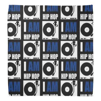 I AM HIP HOP - BLUE LETTER v2 Bandannas