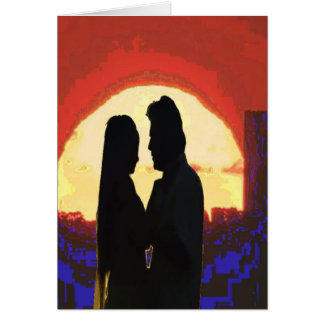 I am in LOVE Template DIY Lovers ADD text greeting Greeting Card