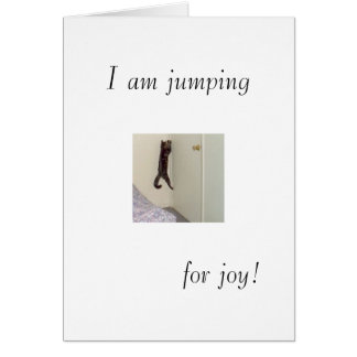 I am jumping, for joy! card