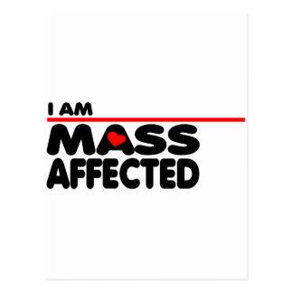 I am Mass Affected Postcard