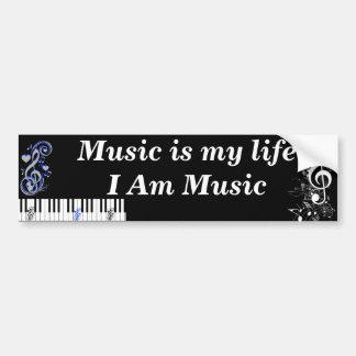 I Am Music_ Bumper Sticker