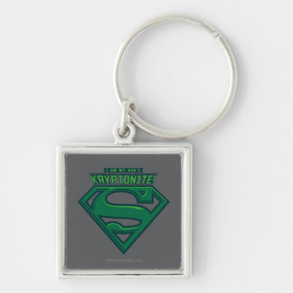 I Am My Dad's Kryptonite Silver-Colored Square Key Ring