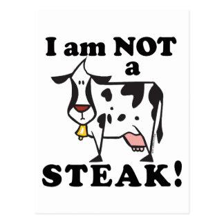 I am Not a Steak Animal Rights Postcard