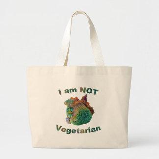 I Am Not Vegetarian Jumbo Tote Bag