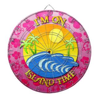 I Am On Island Time Dartboard