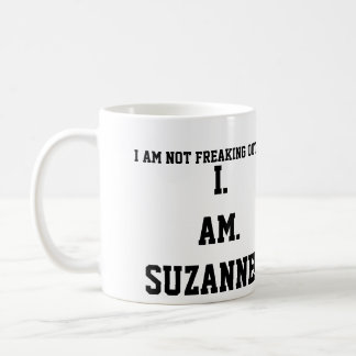 I. AM. SUZANNE!!!! BASIC WHITE MUG