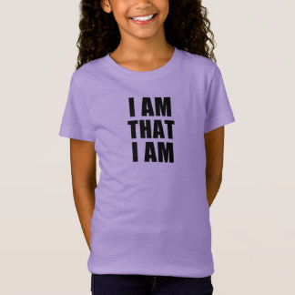 I AM THAT I AM tee with black lettering