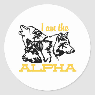 I Am The Alpha Classic Round Sticker