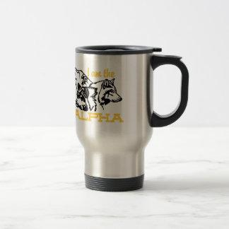 I Am The Alpha Stainless Steel Travel Mug