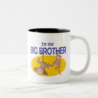 I am the big brother monkey Two-Tone coffee mug