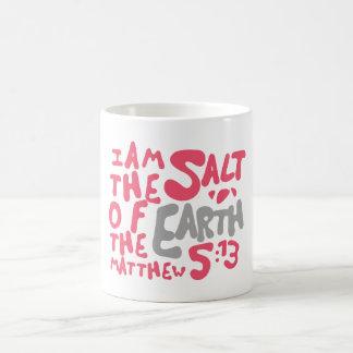 I Am The Salt of The Earth - Pink/Gray Basic White Mug