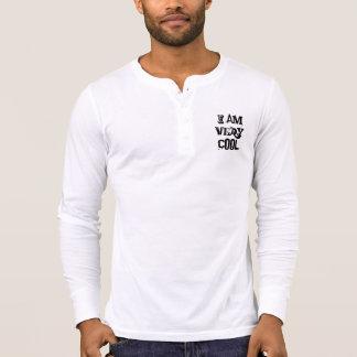 I Am Very Cool Men Canvas Henley Long Sleeve Shirt