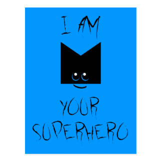 I Am Your Superhero Pop Art Postcard (Blue)