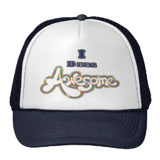 I Beez Awesome Navy Trucker Hat