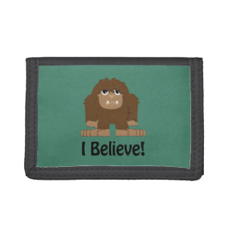 I Believe! Cute bigfoot Trifold Wallet