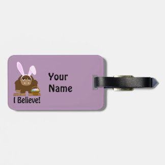 I Believe! Easter Bigfoot Luggage Tag